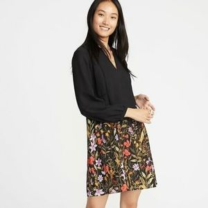 Old Navy NWT Floral Georgette Long Sleeve Dress